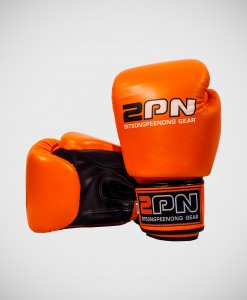 2PN-MuayThai-Boxing-Gloves-Orange-Black
