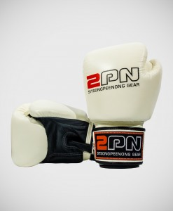 2PN-MuayThai-Boxing-Gloves-White-Black
